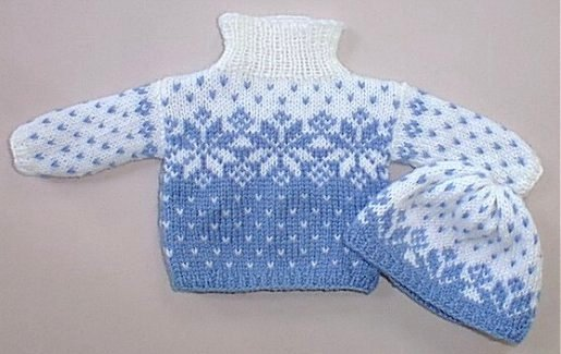 Snowflake Jumper Knitting Pattern : Snowflake Cardigan Knitting Pattern - Long Sweater Jacket