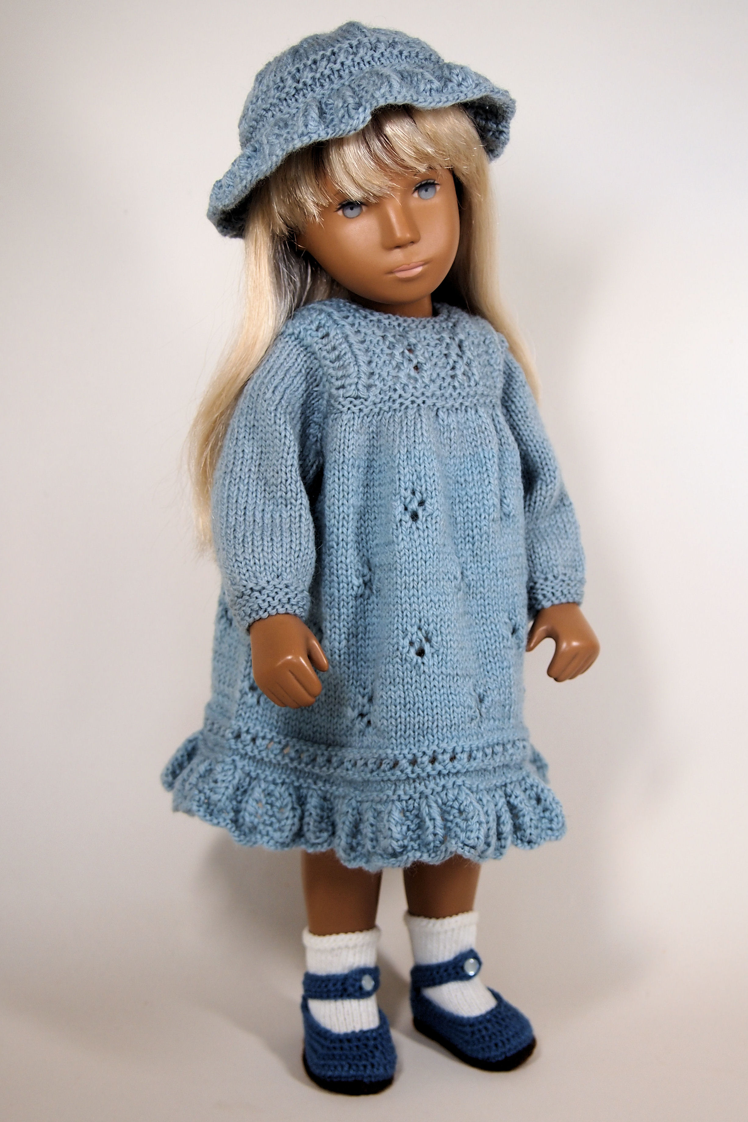 SASHA DOLL hand knitted seamless sweater NO DOLL FREE US SHIPPING long sleeve